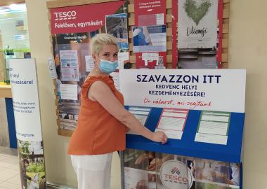 Intézményünk igazgatója, Járja Andrea is leadta a szavazatát.